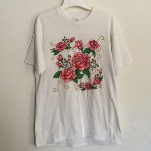 Vintage Rose Printed Tshirt